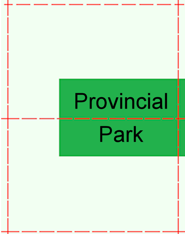 An image of two cells that are encumbered by a provincial park