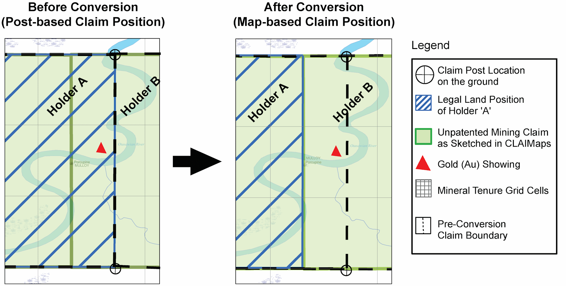 An image illustrating potential boundary shifts after conversion